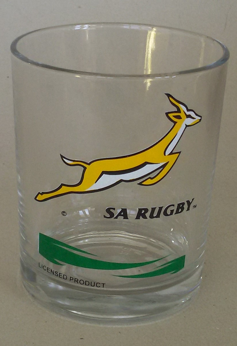 SA RUGBY  WHISKY GLASS