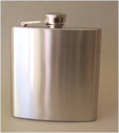 PLAIN HIP FLASK 6oz