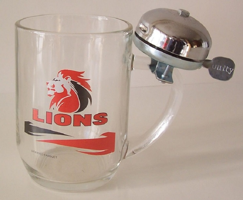 LIONS BEERMUG WITH BELL