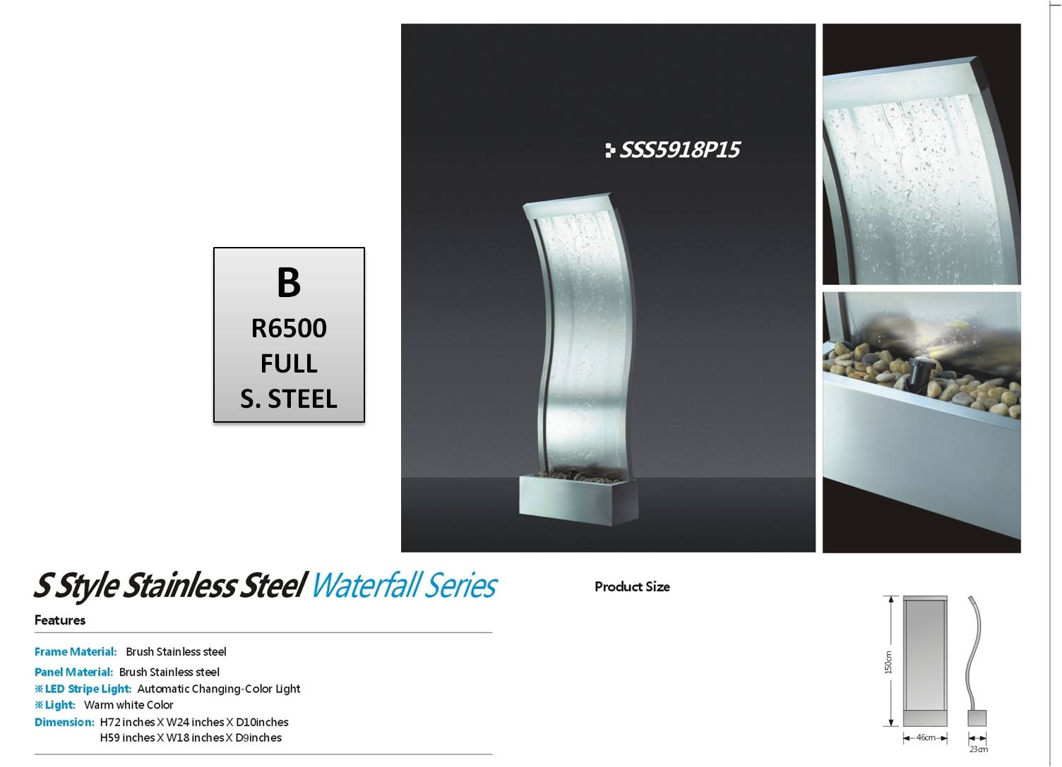 Stainless Steel Slide  B