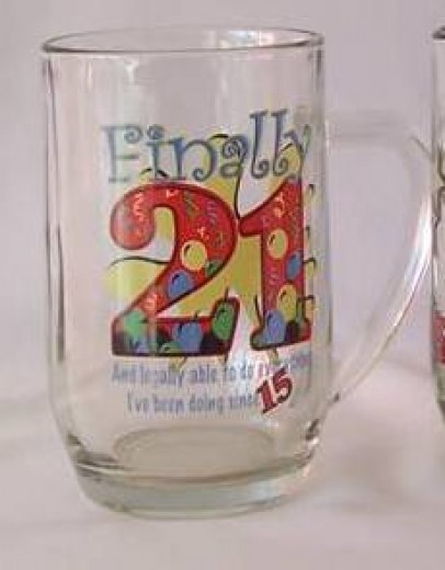 21st BALLOON BEER MUG GLASS