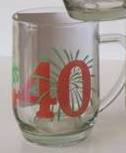 AGE 40 GLASS BEER MUG