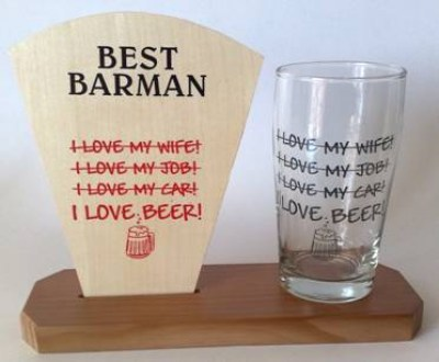 BARMANS AWARD WITH GLASS -ILB
