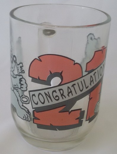 21st GLASS BEER MUG - TEDDY
