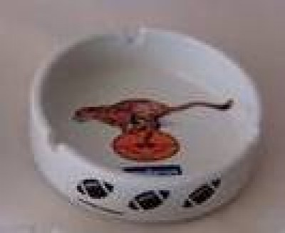 CHEETAHS CERAMIC ASHTRAY