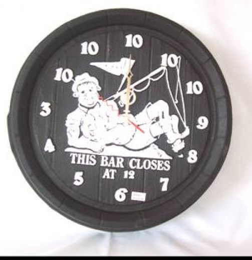 CLOCK-BAR CLOSES @ 12
