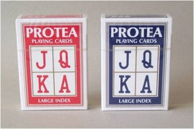LARGE INDEX PLAYING CARDS