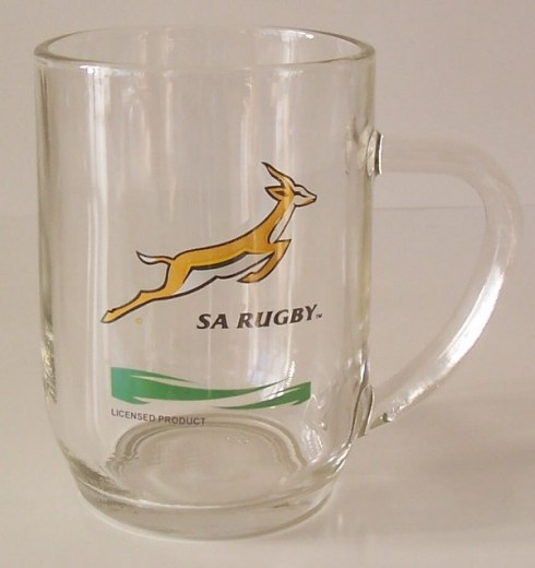 SPRINGBOK BEER GLASS