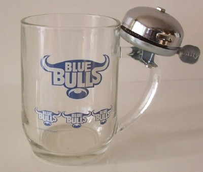 BLUE BULLS BEERMUG WITH BELL