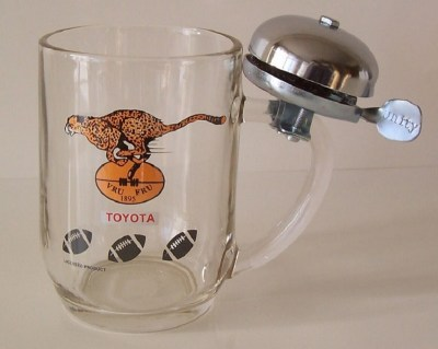 CHEETAHS BEERMUG WITH BELL