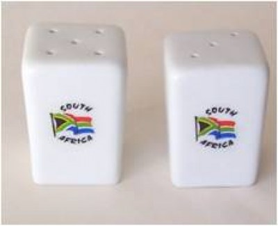 SA FLAG SALT & PEPPER SET