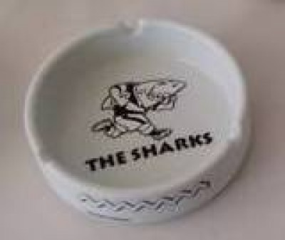 SHARKS CERAMIC ASHTRAY