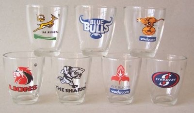SPRINGBOK DOUBLE SHOOTER GLASS