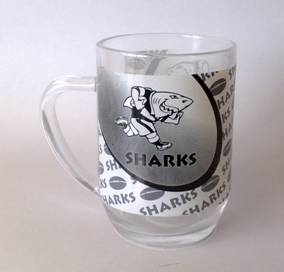 SHARKS BEER MUG- NEW